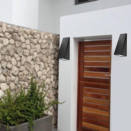 Applique extérieure murale design noire LED puissante