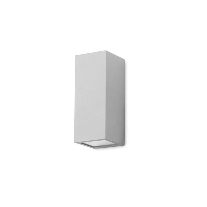 Applique ext rieure grise cube for Cube luminaire exterieur