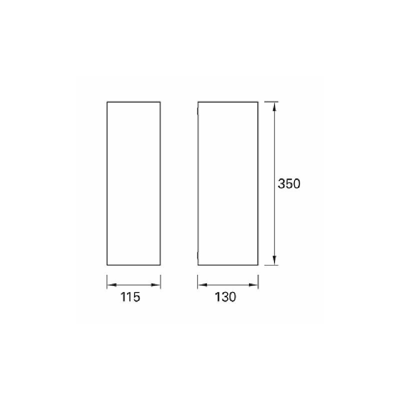 Applique ext rieure grise cube for Luminaire exterieur cube
