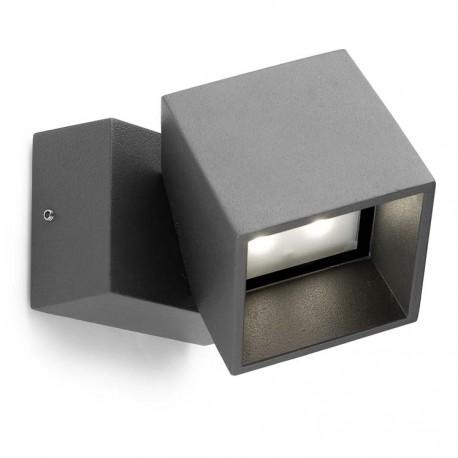 Applique extérieure orientable gris urbain Cubus